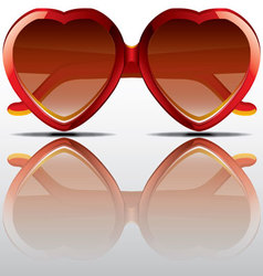 Heart shapes sunglasses vector