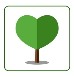 Heart tree icon vector