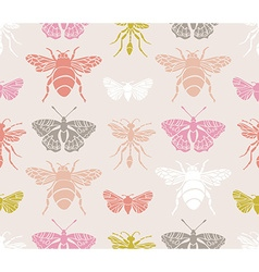Hipster seamless pattern with Insects Abstract vector