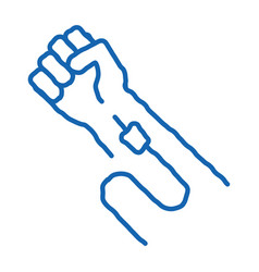 Intravenous injection doodle icon hand drawn vector