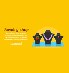 jewelry shop banner horizontal concept vector image vector image