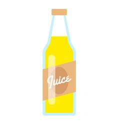 juice bottle icon flat style vector image