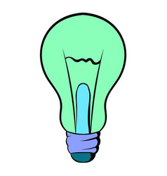 light bulb icon cartoon vector image