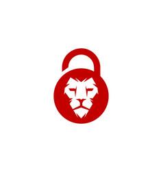 lion security logo icon design vector image