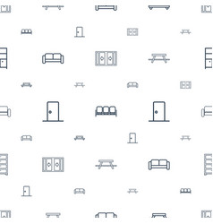 Living icons pattern seamless white background vector