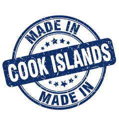 Made in cook islands vector