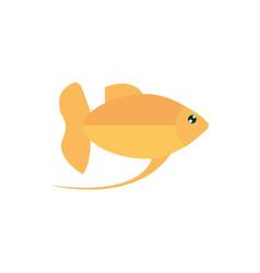 marine life yellow fish cartoon sea fauna animal vector image
