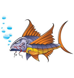 mechanical fish vector image