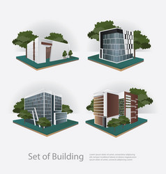 Modern city building perspective vector