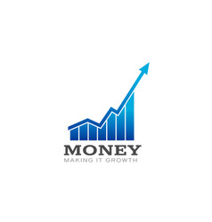 money in business bar profit vector image
