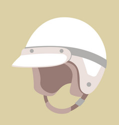motorcycle helmets flat style vector image