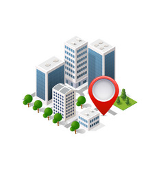 navigation city map vector image