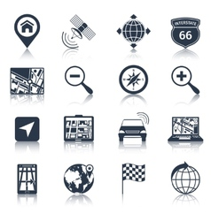 Navigation Icons Black vector image