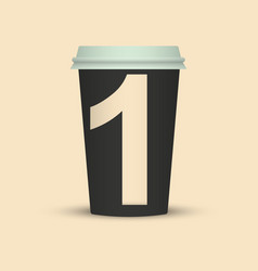 Number one coffee cup vector