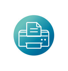 Office equipment paper printer supply block vector