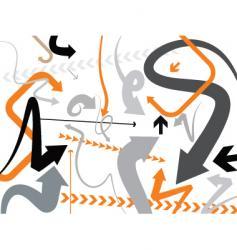 orange gray vector image