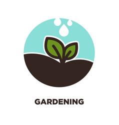 petal on gardening symbol vector image