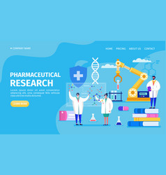 Pharmaceutical research in labaratory landing vector