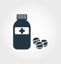 pills bottle icon line style icon design pills vector image