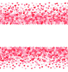 pink red valentines days hearts background vector image