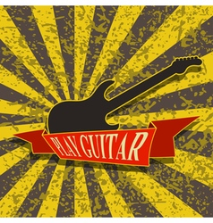 Play Guitar-Background vector image vector image