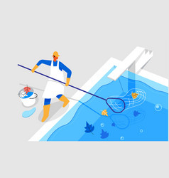 Pool cleaner cleaning dust vector