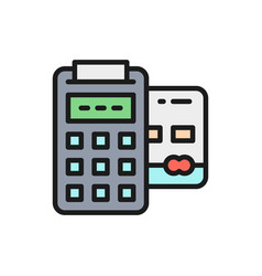 pos credit card banking terminal payments vector image