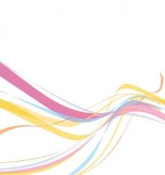 Rainbow wave line vector