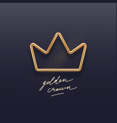 realistic golden metal crown on a dark background vector image