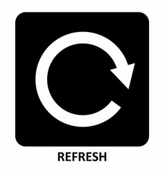 refresh symbol vector image