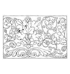 Renaissance ornament vine is a frieze design vector