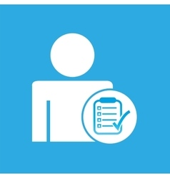 Silhouette man with checklist report graphic vector