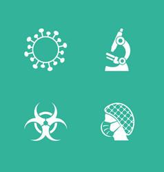 simple web coronavirus research icons set vector image