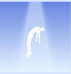 Soul flies to heaven ghost a man taken up vector