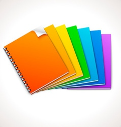 Spiral Ring Notebooks Rainbow vector image