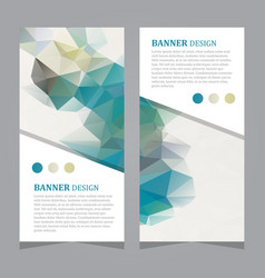 Stock set of polygonal triangular banners vector