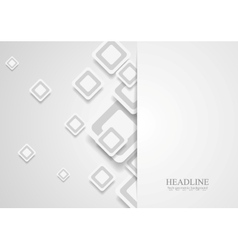 Tech corporate paper background with squares vector