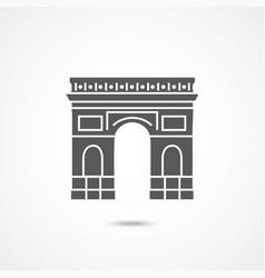 triumphal arch icon vector image