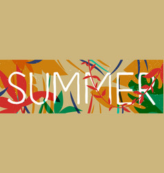 tropical summer jungle plant web banner art vector image
