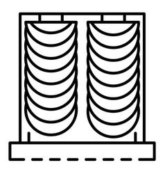 Velvet curtain icon outline style vector