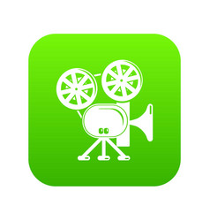 video camera icon green vector image