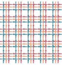 vintage seamless pattern with crossing painted vector image
