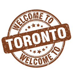 Welcome to toronto brown round vintage stamp vector