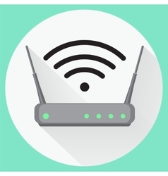 Wi fi wireless router web icon in flat style vector image