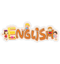 Word design for school subject english vector