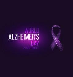 World alzheimers day concept vector