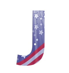 american letter J vector image