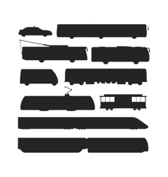 black silhouette of trains vector image