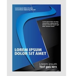 corporate business brochure design vector image