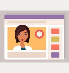 doctor medical consultation online vector image